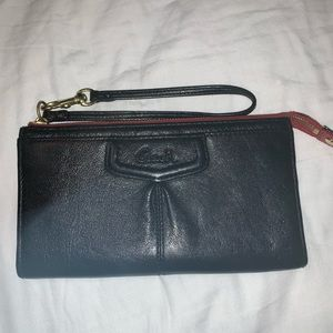 Black & Red Coach Wallet